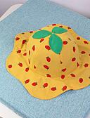 זול ילדים כובעים ומצחיות-מידה אחת לבן / ורוד מסמיק / צהוב כובעים ומצחיות כותנה מסוגנן אחיד / פירות וינטאג' / פעיל / בסיסי בנות פעוטות