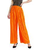 billige T-shirt-Dame Basale Bredt Bukseben Bukser - Ensfarvet Patchwork Orange Rosa Army Grøn En Størrelse