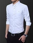 billige T-shirts og undertrøjer til herrer-Herre - Geometrisk Trykt mønster Basale Skjorte Vin US44 / UK44 / EU52