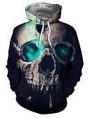 povoljno Muške majice s kapuljačom i trenirke-Muškarci Ležerne prilike / Ulični šik Hoodie Color block / 3D / Lubanje