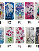 hesapli Cep Telefonu Kılıfları-Pouzdro Uyumluluk Samsung Galaxy Note 9 / Note 8 Cüzdan / Kart Tutucu / Satandlı Tam Kaplama Kılıf Kelebek / 3D Karikatür / Çiçek Sert PU Deri