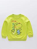 povoljno Majice s kapuljačama i trenirke za dječake-Djeca Dječaci Osnovni Ulični šik Print Color block Print Dugih rukava Pamuk Trenirka s kapuljačom Djetelina
