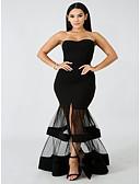 hesapli Kadın Elbiseleri-Kadın's Zarif Kılıf Elbise - Solid Midi