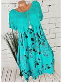 povoljno Print Dresses-Žene Tunika Haljina Cvjetni print Iznad koljena