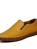 זול תחתוני גברים אקזוטיים-בגדי ריקוד גברים מוקסין סינטטיים אביב / סתיו נעליים ללא שרוכים צהוב / חום / כחול
