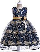 זול שמלות לילדות פרחים-נסיכה באורך  הברך שמלה לנערת הפרחים  - כותנה / טול ללא שרוולים עם תכשיטים עם אפליקציות על ידי LAN TING Express
