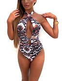 hesapli Bikiniler ve Mayolar-Kadın's Mor Havuz YAKUT Tek Parçalılar Mayolar - Hayvan S M L Mor