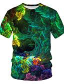 זול טישרטים לגופיות לגברים-גלקסיה / קולור בלוק / 3D בסיסי / סגנון רחוב טישרט - בגדי ריקוד גברים דפוס קשת