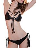 hesapli Bikiniler ve Mayolar-Kadın's Siyah Tankini Mayolar - Solid Tek Boyut Siyah