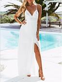 זול שמלות מקסי-V עמוק מותניים גבוהים מקסי שמלה נדן בסיסי בגדי ריקוד נשים
