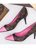 abordables Chemisiers Femme-Femme Chaussures à Talons Talon Aiguille Cuir Nappa Printemps Noir / Rose