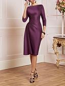 hesapli Print Dresses-Sütun Bateau Boyun Diz Boyu Saten Dantelalar ile Gelin Annesi Elbisesi tarafından LAN TING Express