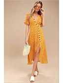 povoljno Maxi haljine-Žene Korice Haljina Na točkice Duboki V Maxi