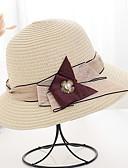 halpa Naisten hatut-Naisten Perus Aurinkohattu-Yhtenäinen Polyesteri Ruskea Valkoinen Beesi