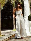 hesapli Günlük Elbiseler-Kadın's Temel Beyaz Tulumlar, Solid S M L