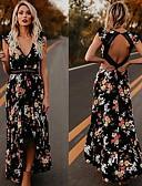 hesapli Maksi Elbiseler-Kadın's Çan Elbise - Çiçekli Maksi