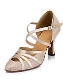 povoljno Nježna čipka-Žene Plesne cipele Sintetika Moderna obuća Isprepleteni dijelovi Štikle Kubanska potpetica Moguće personalizirati Nude / Seksi blagdanski kostimi
