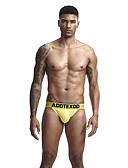 hesapli Egzotik Erkek İç Giyimi-Erkek Normal G-string İç Giyim - Temel Düşük Bel Siyah Beyaz Sarı M L XL