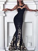 hesapli Print Dresses-Kadın's Boho Zarif Bandaj Elbise - Çiçekli, Dantel Maksi