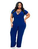 povoljno Bluza-Žene Osnovni Crn Plava Jumpsuits, Jednobojni Otvorena leđa L XL XXL