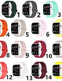 זול להקות Smartwatch-צפו בנד ל סדרת Apple Watch 5/4/3/2/1 Apple רצועת ספורט סיליקוןריצה רצועת יד לספורט
