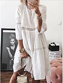 povoljno Ženska odjeća-Žene Shift Haljina Jednobojni Do koljena