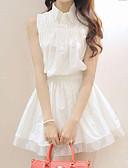 hesapli Mini Elbiseler-Kadın's Kılıf Elbise - Solid Diz üstü