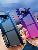 Недорогие Чехлы для телефонов-Кейс для Назначение SSamsung Galaxy Note 9 / Note 8 Защита от удара Кейс на заднюю панель Градиент цвета Твердый ТПУ / Закаленное стекло