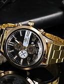 hesapli Saatler-Erkek Elbise Saat Quartz Gündelik Saatler Analog Klasik - Siyah Altın