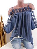 abordables Chemises Femme-Chemisier Femme, Couleur Pleine Dentelle Sans Bretelles Ample Blanche