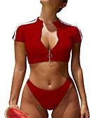 hesapli Bikiniler ve Mayolar-Kadın's Siyah Doğal Pembe Havuz Tankini Mayolar - Solid S M L Siyah