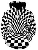 hesapli Erkek Kapşonluları ve Svetşörtleri-Erkek Günlük / Actif Kapüşonlu Giyecek - Geometrik / Zıt Renkli / 3D