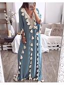 お買い得  イブニングドレス-女性用 ベーシック シフト ドレス ソリッド マキシ