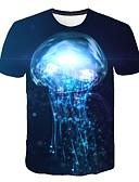 povoljno Muške majice i potkošulje-Veličina EU / SAD Majica s rukavima Muškarci - Osnovni Dnevno 3D Okrugli izrez Duga / Kratkih rukava