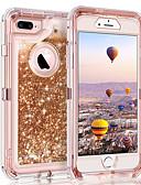 זול מגנים לאייפון-מגן עבור Apple iPhone XS / iPhone XR / iPhone XS Max נוזל זורם / זוהר ונוצץ כיסוי אחורי זוהר ונוצץ קשיח PC