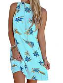 hesapli Mini Elbiseler-Kadın's Kombinezon Elbise - Çiçekli Diz üstü