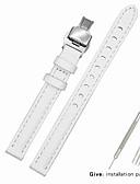 hesapli Deri Saat Bandı-Gerçek Deri / Deri / Buzağı Tüyü Watch Band kayış için Beyaz Diğer / 17cm / 6.69 inç / 19cm / 7.48 İnç 1cm / 0.39 İnç