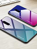 זול מגנים לטלפון-מגן עבור OnePlus OnePlus 6 / One Plus 6T / אחת פלוס 7 עמיד בזעזועים כיסוי אחורי צבע הדרגתי קשיח TPU / זכוכית משוריינת