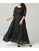 povoljno Večernje haljine-Žene Veći konfekcijski brojevi Sofisticirano Širok kroj Haljina - Izrezati, Jednobojni Maxi