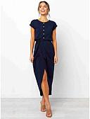 cheap Women's Dresses-Women's Street chic Sheath Dress - Solid Colored Black Navy Blue Army Green M L XL