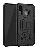 זול מגנים לטלפון-מגן עבור Samsung Galaxy Galaxy A30 (2019) עמיד בזעזועים / עם מעמד כיסוי אחורי אחיד קשיח TPU / פלסטי