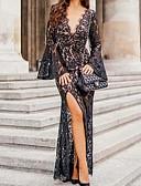 hesapli Mini Elbiseler-Kadın's Bandaj Elbise - Solid Maksi