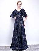 povoljno Večernje haljine-A-kroj V izrez Jako kratki šlep Sa šljokicama Formalna večer Haljina s po LAN TING Express