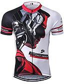 povoljno Muške košulje-21Grams Anime Muškarci Kratkih rukava Biciklistička majica - Crno bijela  / Bicikl Biciklistička majica Majice Prozračnost Ovlaživanje Quick dry Sportski Terilen Brdski biciklizam Odjeća