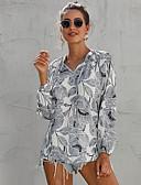ราคาถูก เสื้อเอวลอยสำหรับผู้หญิง-สำหรับผู้หญิง เสื้อสตรี พื้นฐาน ลายพิมพ์ ลายดอกไม้ ขาว