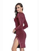 hesapli Sweater Dresses-Kadın's Sokak Şıklığı Zarif Kılıf Elbise - Solid Diz üstü