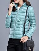 povoljno Women's Down Coats-Žene Jednobojni Jakna od perja, Poliester Crn / Lila-roza / Obala S / M / L