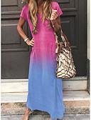 hesapli Mini Elbiseler-Kadın's Temel Kombinezon Elbise - Zıt Renkli, Kırk Yama Maksi