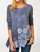 billige Skjorter til damer-T-skjorte Dame - Fargeblokk Grå
