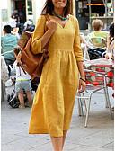 hesapli Kadın Etekleri-Kadın's Kombinezon Elbise - Solid Midi